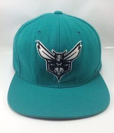 fc9f58fbb20 Mitchell and Ness Charlotte Hornets Snapback Hat Teal in Sports Mem