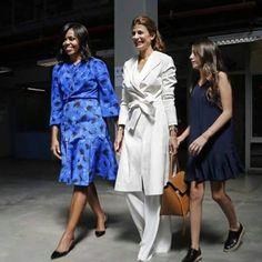 Michelle Obama junto a Juliana Awada y su hija Valentina.