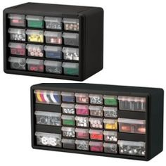 Great for storing all your little craft odds and ends and the clear drawers allows you to see whats inside.