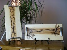 Cheese Board by FrillsElectricWood on Etsy Lichtenberg Figures, Woodburning, Cutting Boards, Pyrography, Fractals, Mario, Carving, Cheese, Drawings