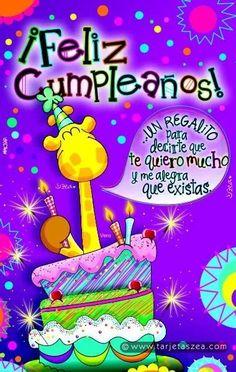 Happy Birthday In Spanish, Happy Birthday Notes, Happy Birthday Wishes, Birthday Quotes, Birthday Greetings, Hippie Birthday, Tatty Teddy, Happy B Day, Birthday Decorations
