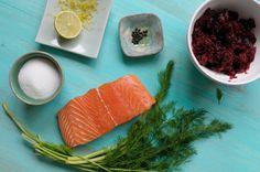 Gravlax de salmón Fresh Rolls, Magenta, Ethnic Recipes, Food, Ethnic Food, Roses, Essen, Meals, Yemek