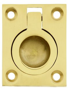 Solid Brass Flush Mount Ring Pull