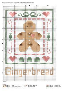 Cross Stitch Happy: Gingerbread Treasure Bag