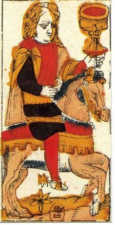 Jacques Vieville Tarot Knight of Cups