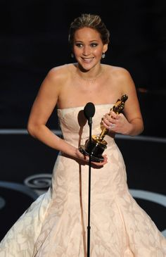 Because at 22 she was the SECOND YOUNGEST WOMAN EVER to win one for Best Actress. | 22 Times Jennifer Lawrence Was The Badass Woman You Aspire To Be