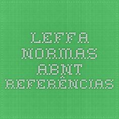 Leffa - Normas ABNT - Referências