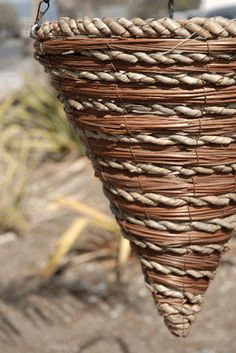 """Hanging Baskets 15"""" Fern and Rope Cone Baskets (Save 18%)"""