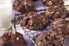 Can't decide between a batch of brownies or fresh baked cookies?  Have both with our BAKER'S One Bowl Brownie Cookies.  Chewy chocolate cookies with chopped pecans - how can you go wrong with this combination?