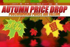Autumn Price Drop - ProSwimwear Prices are #Falling !  http://www.proswimwear.co.uk/autumn-price-drop.html  #pricedrop