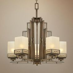 Deco style chandelier