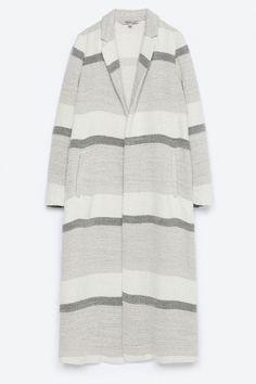 Zara Striped Coat, £69.99
