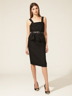 Proenza Schouler Asymmetrical Structured Bodice Dress