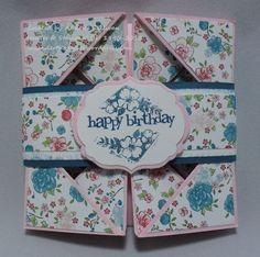 Multifold Card | Annette Sullivan, Stampin' Up! Demonstrator: Lavender Thoughts Blog