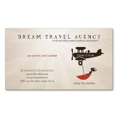 Dream Travel Agency business card created by DreamsInc. This design is available on several paper types and is totally customizable. Business Travel, Business Card Design, Business Cards, Visiting Card Design, Travel Maps, Travel Logo, Text Style, Adventure Quotes, Travel Agency