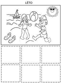 Tridime obleceni Zima - Leto Speech Therapy, Diy And Crafts, Snoopy, Seasons, Education, Photo And Video, Puzzles, Comics, Children