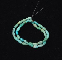 Old Stock Genuine Turquoise Oval Beads - Full strand