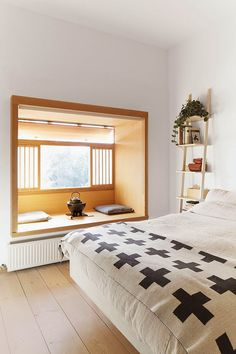 Cozy and relaxing window embrasure