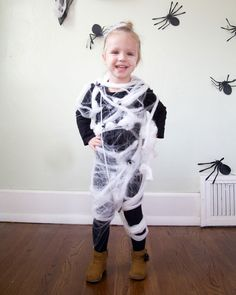 Ran out of time to make your child's Halloween costume? Back away from the old sheet-ghost standby. Here are four adorable kids' costumes you can whip up using materials from your junk drawer. Alison Faulkner of The Alison Show turned a tangle of leftover faux webbing and a few pretend spiders into the creepy-cute Super Spider Kid costume.