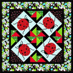 Ladybug Quilt Pattern | Passion for Pansies Travel Quilt