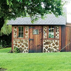 Cordwood structure from Sunset: http://www.sunset.com/home/natural-home/creative-eco-friendly-garden-shed-00400000058127/