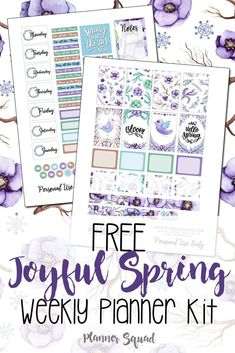Free Printable Joyful Spring Weekly Planner Stickers {subscription required} #plannerstickers #plannerlove #planwithme