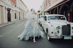 pastel blue wedding ball dress
