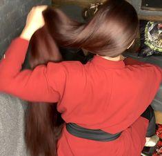 VIDEO - Red - RealRapunzels Long Hair Ponytail, Bun Hairstyles For Long Hair, Indian Hairstyles, Really Long Hair, Long Red Hair, Thick Hair, Beautiful Long Hair, Gorgeous Hair, Amazing Hair