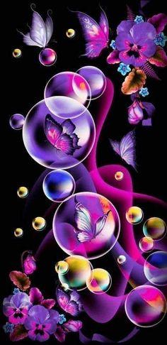 Bells On Ashley 🔔 | Butterfly Wallpaper, Purple Butterfly