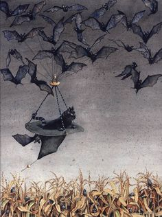 Halloween Bats, Halloween Make Up, Halloween Costumes, Lowbrow Art, Witch, October, Insects, Night, Illustration Art