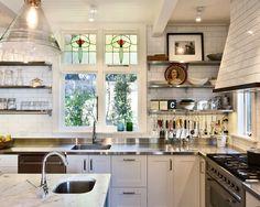 stainless steel stove backsplash with shelf   ... stainless steel countertops, white backsplash, subway tile backsplash