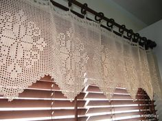 Crochet Curtain Ecru Lace Curtains Crochet Home Decor