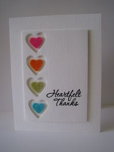 Heartfelt thanks card and other beautiful handmade cards
