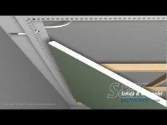 LED-Trockenbauprofil für freie (schwebende) Flächen mit Unterkonstruktion - YouTube