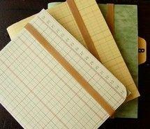 Ledger notebooks.