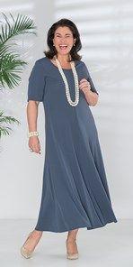 Plus size Q'neel steel silky jersey dress