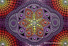 dot painting flower of life image Mandala Art, Mandala Canvas, Mandala Painting, Mandala Design, Mandala Painted Rocks, Mandala Rocks, Dot Art Painting, Stone Painting, Dot Symbol