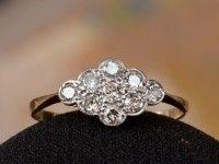 1920s Diamond Cluster Ring   | Erie Basin