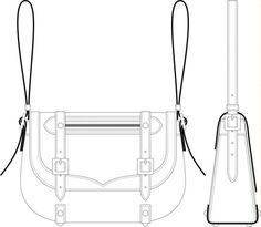 how to draw fashion illustration handbags | Technical Scale Drawing