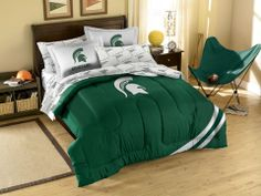 Use this Exclusive coupon code: PINFIVE to receive an additional 5% off the Michigan State University Contrast Full Bed in a Bag at SportsFansPlus.com