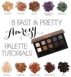 I know there are a lot of girls excited about the Amrezy palette, myself included, so I thought I'd compile a list of some quick & beautiful looks you can create with it.