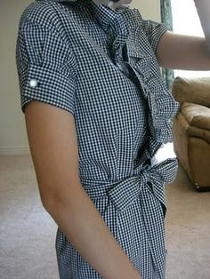 love the diy sleeves - made from a long sleeve shirt