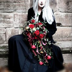Unique flower arrangements for every occasion. Gothic Flowers, Victorian Flowers, Unique Flower Arrangements, Unique Flowers, Gothic Fashion, Victorian Fashion, Wedding Flower Alternatives, Wedding Ideas, Victorian Gothic Wedding