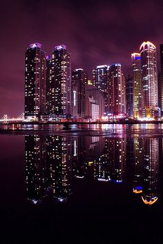 heaundae night reflection... by Andrew8RRR, via Flickr