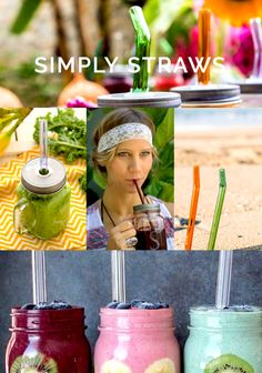 Simply Straws, a reusable glass drinking straw alternative to traditional plastic straws.
