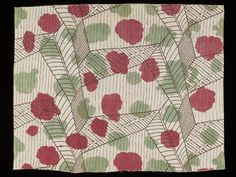 White | Bell, Vanessa | This printed linen furnishing fabric was designed and sold by The Omega Workshops Ltd. Founded in 1913 by Roger Fry, Omega Workshops was a group of artists (including Vanessa Bell and Duncan Grant) who designed furniture, pottery, carpets, textiles, stained glass and whole schemes of interior decoration. The Omega textile designs were ahead of their time and set a fashion for abstract and geometric patterns.