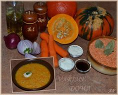 Dýňová polévka s červenou čočkou a jiné recepty na dýně Cantaloupe, Fruit, Vegetables, Food, Essen, Vegetable Recipes, Meals, Yemek, Veggies