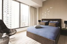 Bring a new dimension to your wall with sculptural or industrial wall decorations. Give your room a personal touch with do-it-yourself art. Decorate your bedroom with our white ceramic birds and blend them with your BoConcept furniture #BoConceptLiving #homedecor #boconceptindia #bedroom #furniture #interiors #interiorinspiration