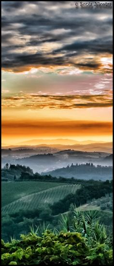 Tuscany Landscape from my window - by Sonia  Nicotra
