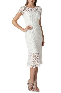 daeeddb88c Kay Unger Fishnet Lace Sheath Dress Engagement Party Dresses